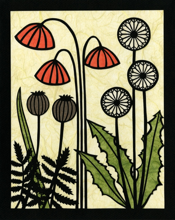 Andrea Martin - Booth 12 Hand-cut paper designs with multiple paper colors, ink or paint.