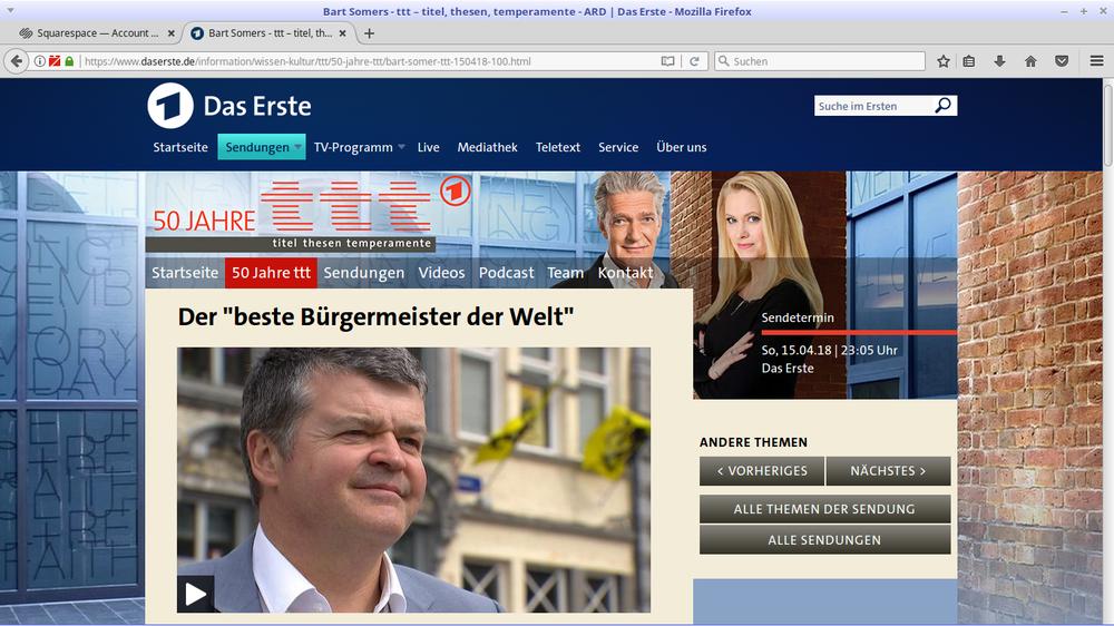 """Bart Somers von der Liberalen Partei, Bürgermeister von Mechelen, kombiniert klassisch """"rechte"""" und """"linke"""" Politikmittel mit Erfolg."""