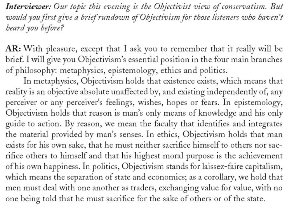 a contrast of ayn rands objectivism and buddhist ethics of altruism By the virginia tech objectivist club an introduction to objectivism my philosophy, in essence, is the concept of man as a heroic being, with his own happiness as the moral.