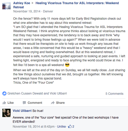 Screen Shot of FB CRID Group VT Testimonials pt1.png
