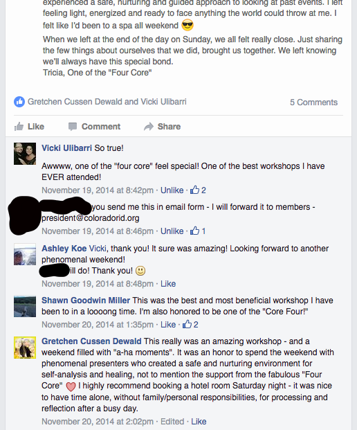 Screen Shot of FB CRID Group VT Testimonials pt2.png