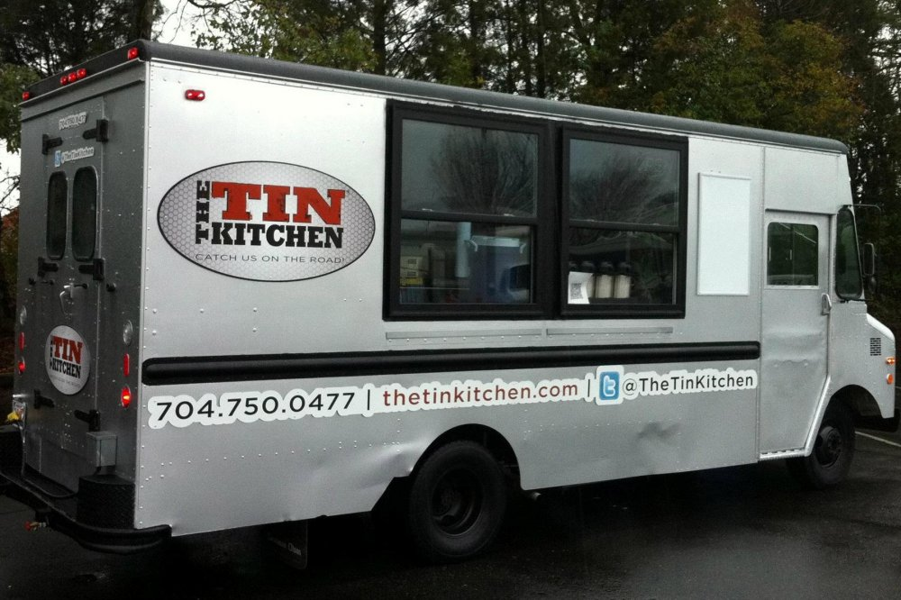 THE TIN KITCHEN  Offering a variety of contemporary cuisine from delicious Korean BBQ Sliders to Togarashi Shrimp Tacos, The Tin Kitchen is a much loved food truck in the Charlotte area. In fact, The Tin Kitchen was recently featured on the popular TV show  Diners, Drive-Ins and Dives ! For those couples who enjoy traditional food with a twist, this truck is calling your name.