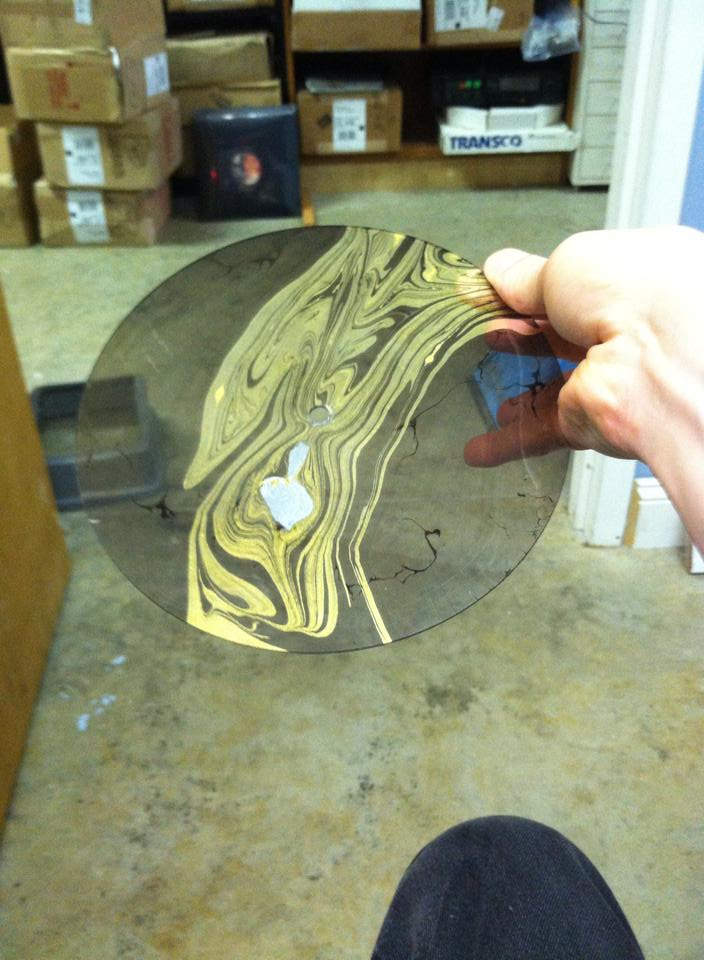 first color tinted record, black with gold