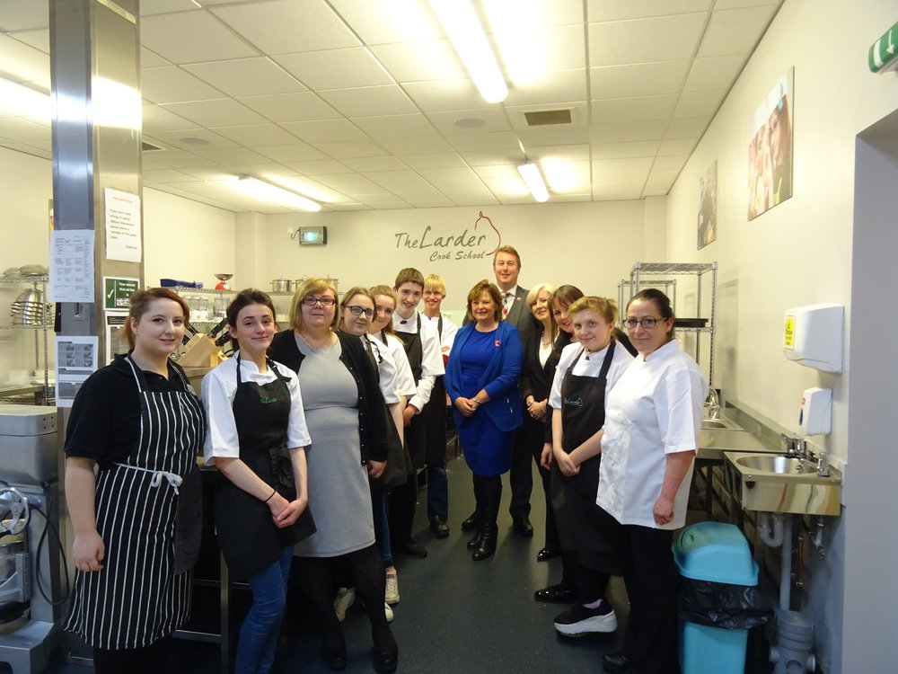 Fiona Hyslop MSP and Hannah Bardell MP visiting The Larder on Friday 11th November.