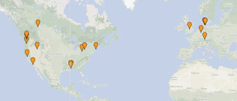 Weekly Geocaching HQ Visitors Map