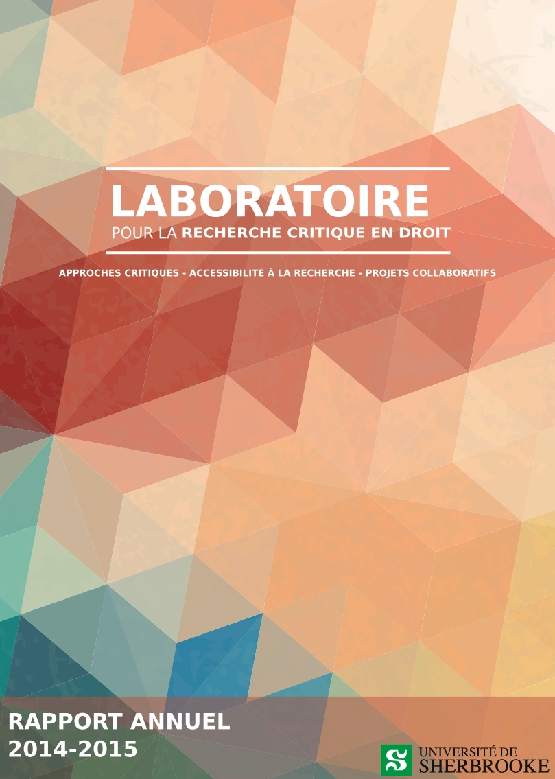 Click here to download our Annual Report 2014-2015 (in French only)