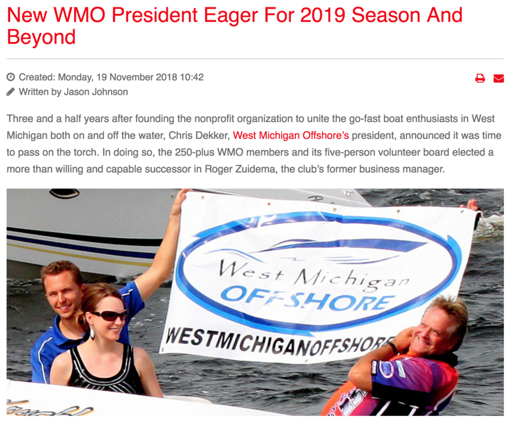 New WMO President Eager For 2019 Season And Beyond -
