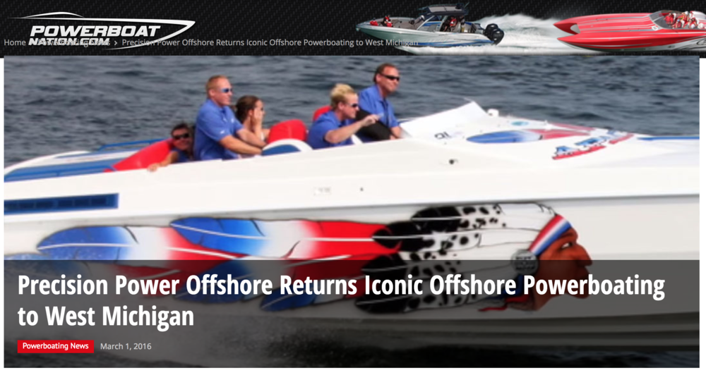 Precision Power Offshore Returns Iconic Offshore Powerboating in West Michigan -
