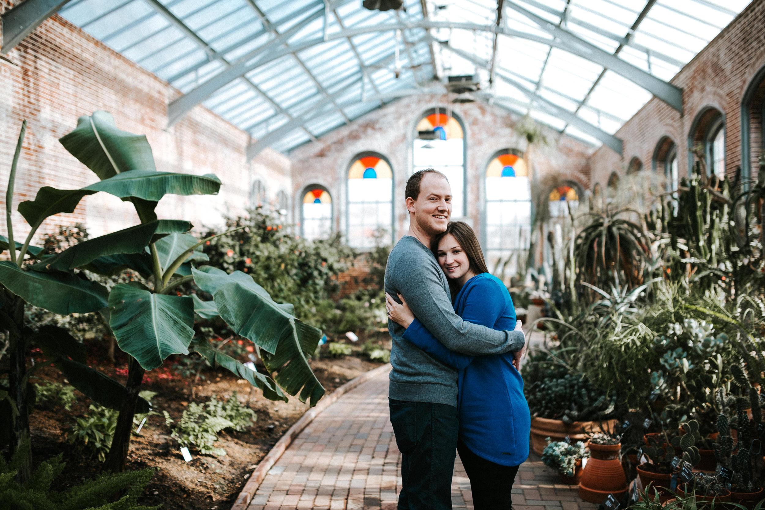 Missouri Botanical Garden Rise Coffee House Winter Engagement