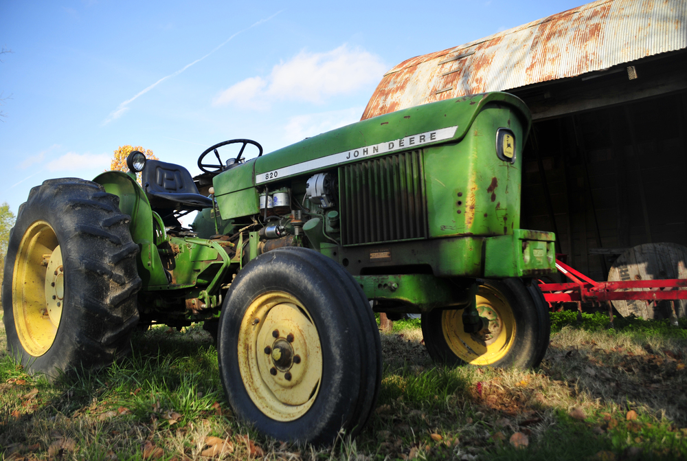 """This is the first tractor that we ever bought, even though it didn't run very well it was cheap"" said Emily Oakley. Many young farmers find it difficult to get loans to purchase new farming equipment for their operations. ""We've got a new tractor now but we'll always love that one."" Nick Oxford for The New York Times"