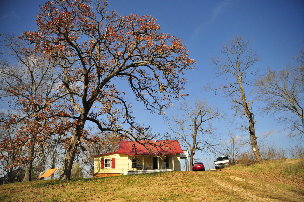 This small yellow farm house belongs to Emily Oakley and Mike Appel who are the owners and sole operators of a five acre, organic vegetable farm in Oaks Oklahoma. Oakley and Appel have been working the land on Three Springs Farm for five years and have experienced the many challenges and successes that come with life on a farm. Nick Oxford for The New York Times