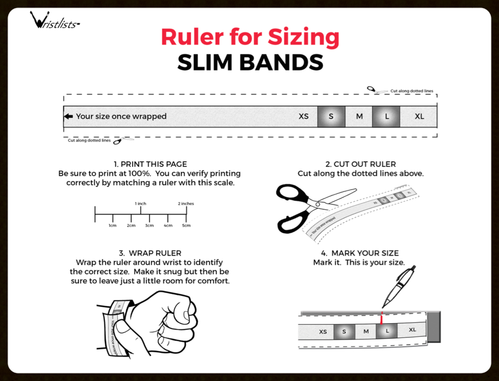 Ruler for Slim Band