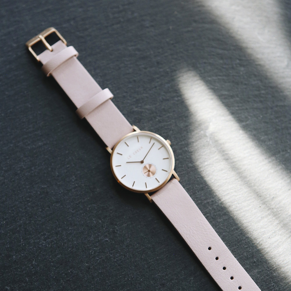 Le Coeur Rose Gold Pink Leather Vienna Timepiece.jpg