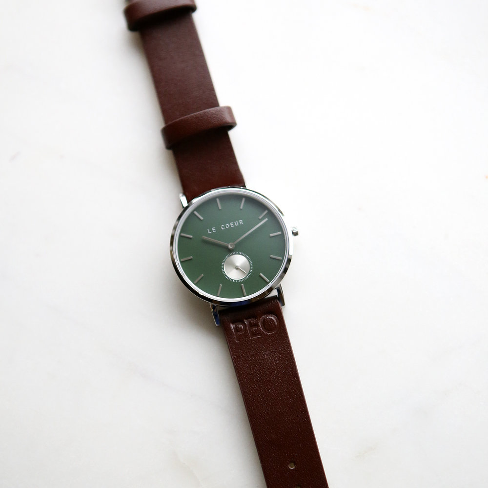 Le Coeur Green and Brown Auckland Watch.jpg
