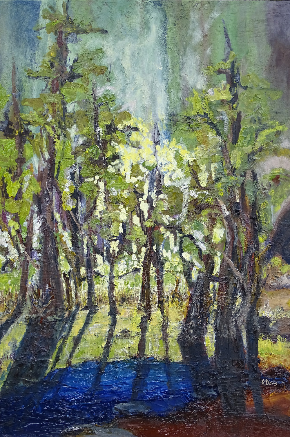 """A Morning Walk"" oil on birch board 28x19in Original Sold"