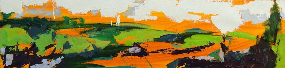"""Let's Walk #3"" acrylic on paper 6x24in"