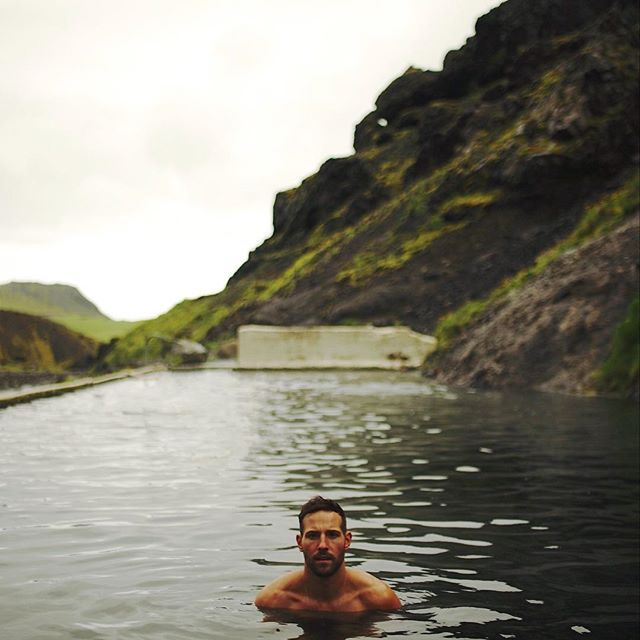 Afternoon dip in an abandoned hot pool built in 1923 at the base of a volcano. Our last day camping. Icelandic magic beyond my wildest dreams. I wouldn't trade this trip... with this guy, for the world. // SELJAVALLALAUG • IS