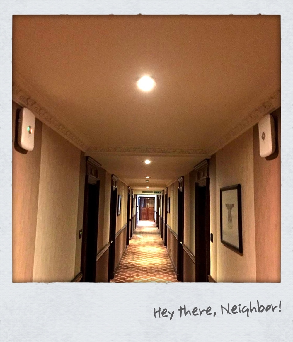 @HeyEddie  Howdy Neighbour! (Repeated every 15m down the corridor)  pic.twitter.com/vnBGSiesed  — Will Jones (@wjcomms)  May 31, 2015        —     Again with the APs in hallways?      EVEN WORSE  they are on the walls  (incorrectly installed because of the antenna pattern)  and  THEY ARE FACING EACHOTHER!  Even if CCI weren't an issue (it is) ACI (Adjacent Channel Interfernce) is more than likely gonna be an issue.     This is repeated about every 50ft down the halls.    Can you imagine having someone screaming in your face  EVERY SINGLE MINUTE OF EVERY SINGLE DAY?     All one can do at this point is ¯\_(ツ)_/¯.