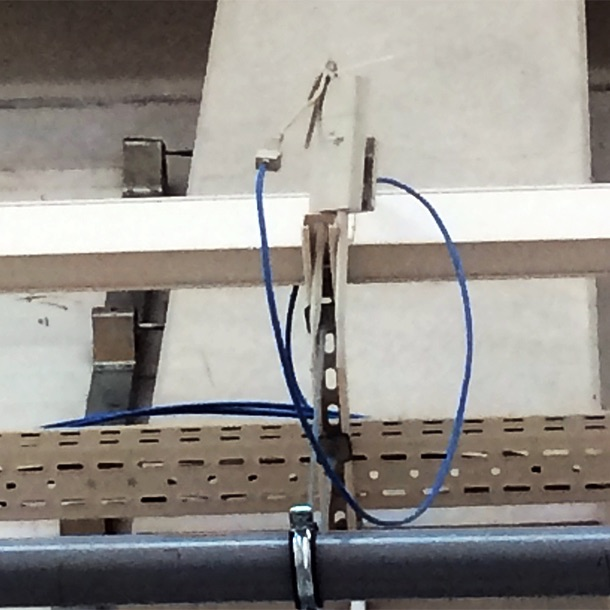 """When brackets are just not needed."" — If you're gonna spend money on a pricey peice of gear, maybe you might want to install it properly. You know for appearances. And security. And so the pricey peice of gear don't break when it rains and the wind blows it off the roof. I'm sure this is grounded to. And that Ethernet connection looks thoroughly waterproofed. Just sayin'."