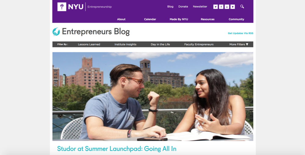 NYU Summer Launchpad Studor Tutor Noah Hyams