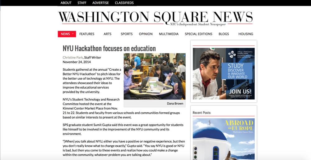 NYU Hackathon Studor Tutor NYC