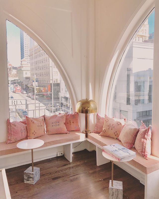 One of then several inspiration areas at TEG San Francisco, a reading nook overlooking the Chinatown gates. . . . #tegintl #madeinsf #sfmade #inspiration #readingnook #blush #fashionhouse #atelier #couture #bridal #independentdesign #emergingdesigner #patterns #samplesdraping