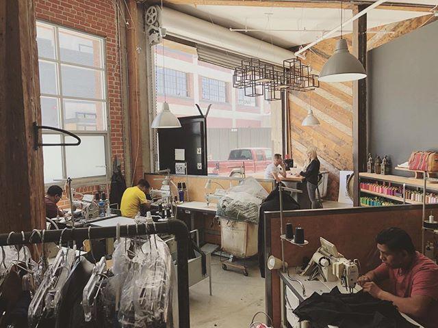 There's always an open door at the TEG LA studio, come visit us in the Arts District of DTLA. . . #tegintl #madeinla #lamade #madeinusa #sewingfactory #laartsdistrict #dtla #apparelmanufacturing