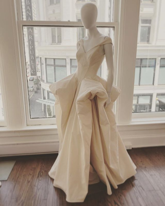 We like a good game at TEG...can you name the iconic designer of this muslin rendition by out team? . . #tegintl #tegsf #fashionhouse #patterns #samples #couture #bridalwear #icon #avantgarde #eveningwear #draping #patternmaker #atelier