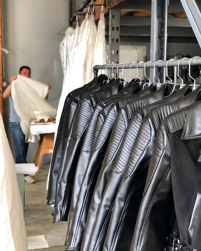 Delicate silks and structured leathers side-by-side. Each TEG sewing group specializes in a type of apparel, providing a broad range of expert sewing capabilities for independent designers. . . . #tegintl #fashiondesign #independentdesign #apparelmanufacturing #sewingfactory #avantegarde #madeinla #dtla #apparelproduction #smallbatch #smallvolume #highend #cutandsew