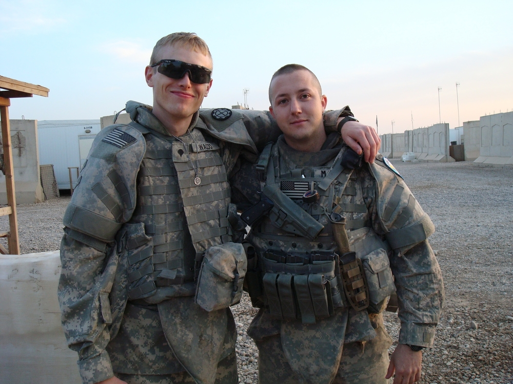 Save A Warrior graduates, Jay Waldo and Adam Magers, pose for a picture following the 3-month long Battle of Sadr City.
