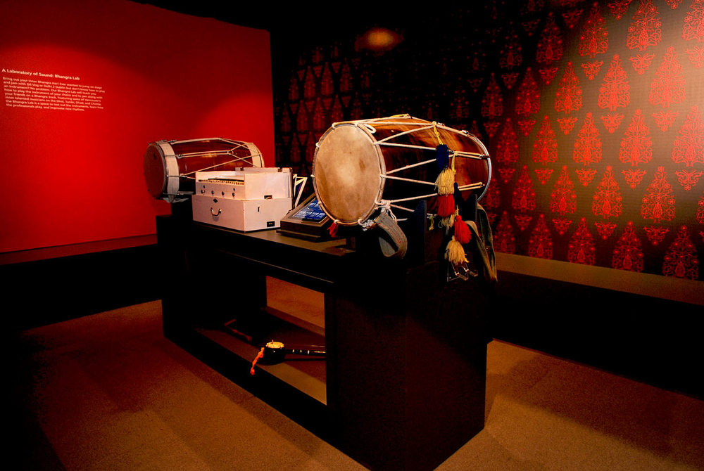 Bhangra.me exhibition design for the Museum of Vancouver, banger music lab interior