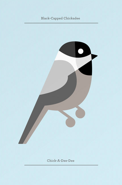 In honour of the Black-Capped Chickadee being named Vancouver's Bird of 2014, a fine likeness of the little bandit by illustrator Josh Brill.