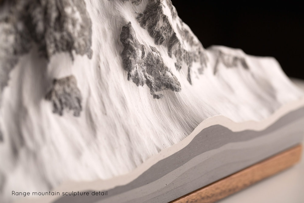 Range Freestanding Mountain Sculpture detail | propellor.ca