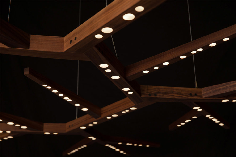 Myco 92 x 64 Light (detail) - walnut hardwood