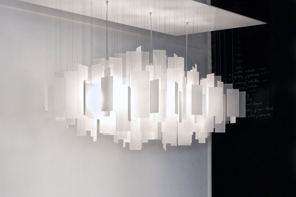 Cumulus 60 x 30 Chandelier - white eco-resin