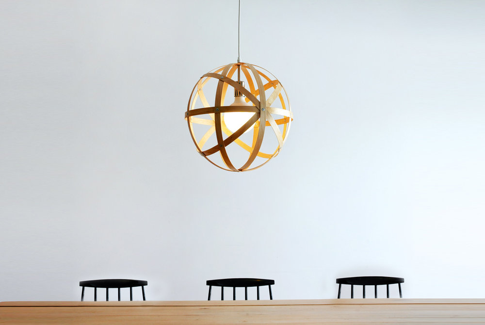 Meridian 16 Pendant Light - birch