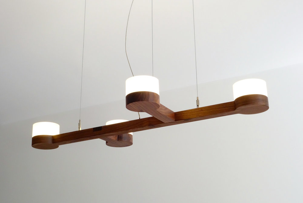 Adanac 4 Light - walnut hardwood