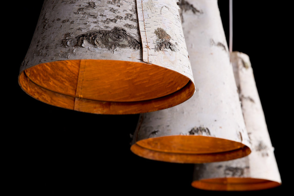 Ono Birch Bark Pendant Lights