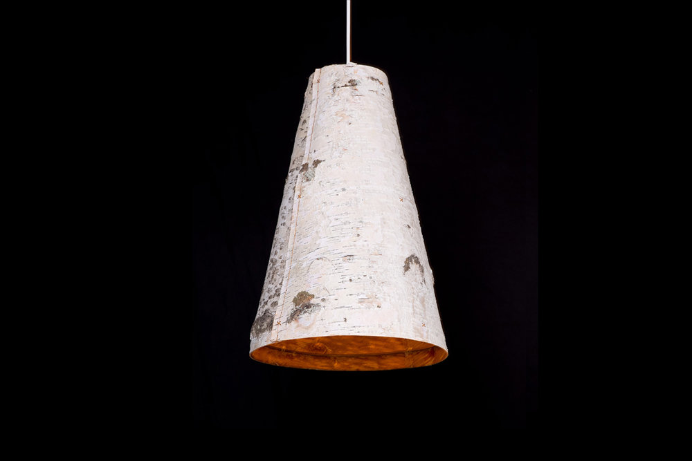 Ono Birch Bark Pendant Light