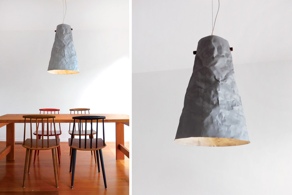 Ono Pendant Light - matte silver
