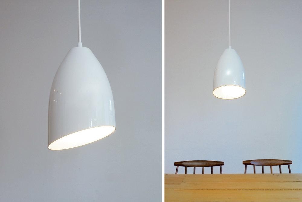 """Homespun Pendant Light - 6.5""""Ø white with beveled edge"""
