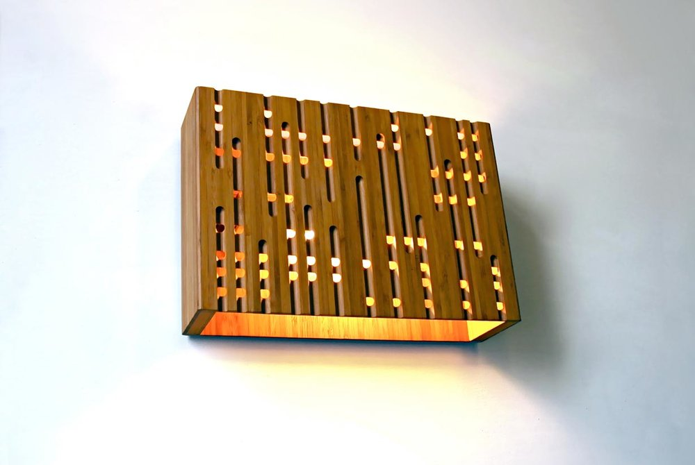 Calvino bamboo wall sconce