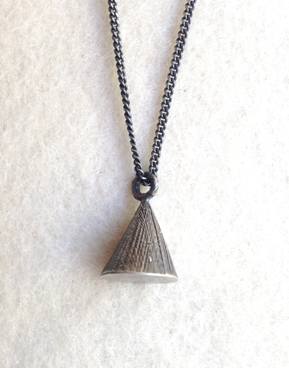 Silver Talisman Cone Necklace