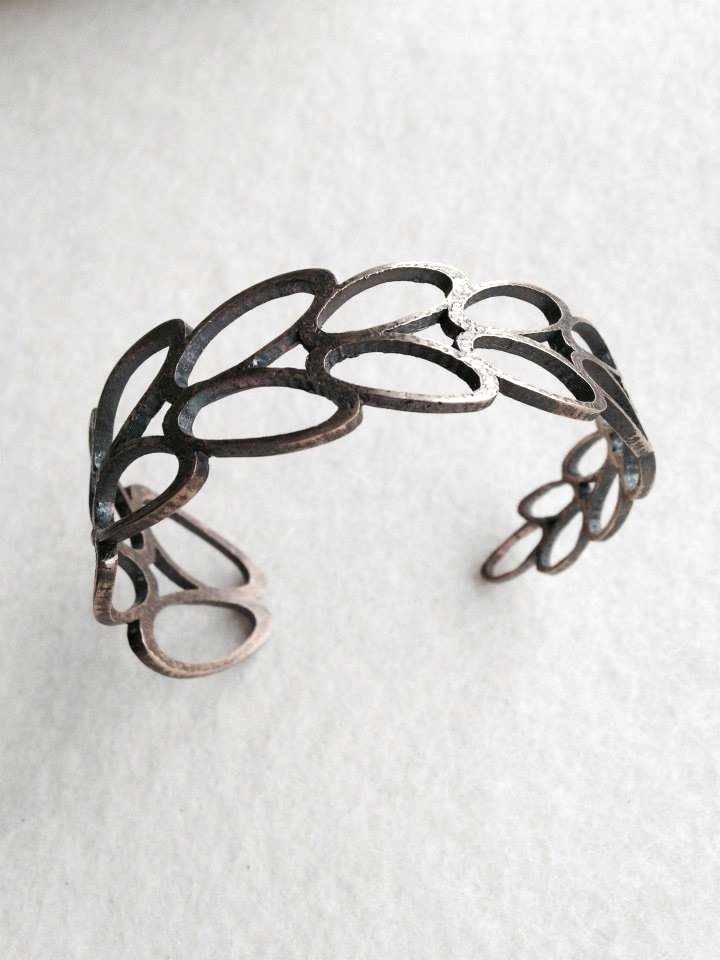 Bronze Laurel Cuff