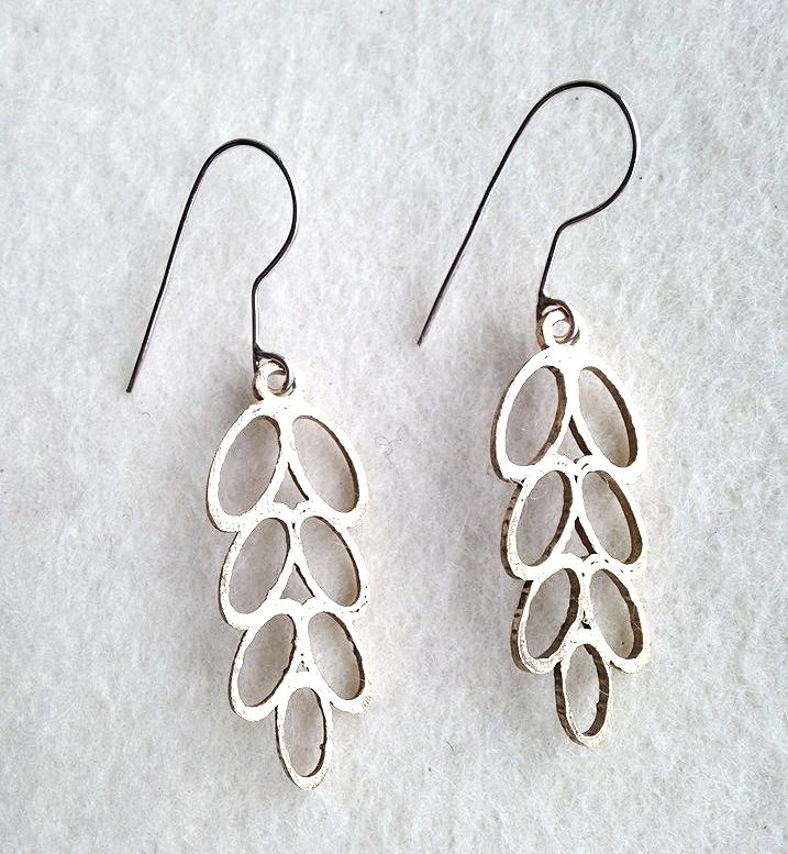 Silver Laurel Earrings