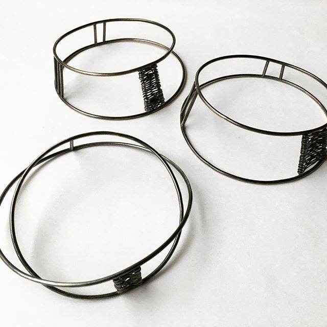 Linear love. New sterling wire bangles @unionhandmade.