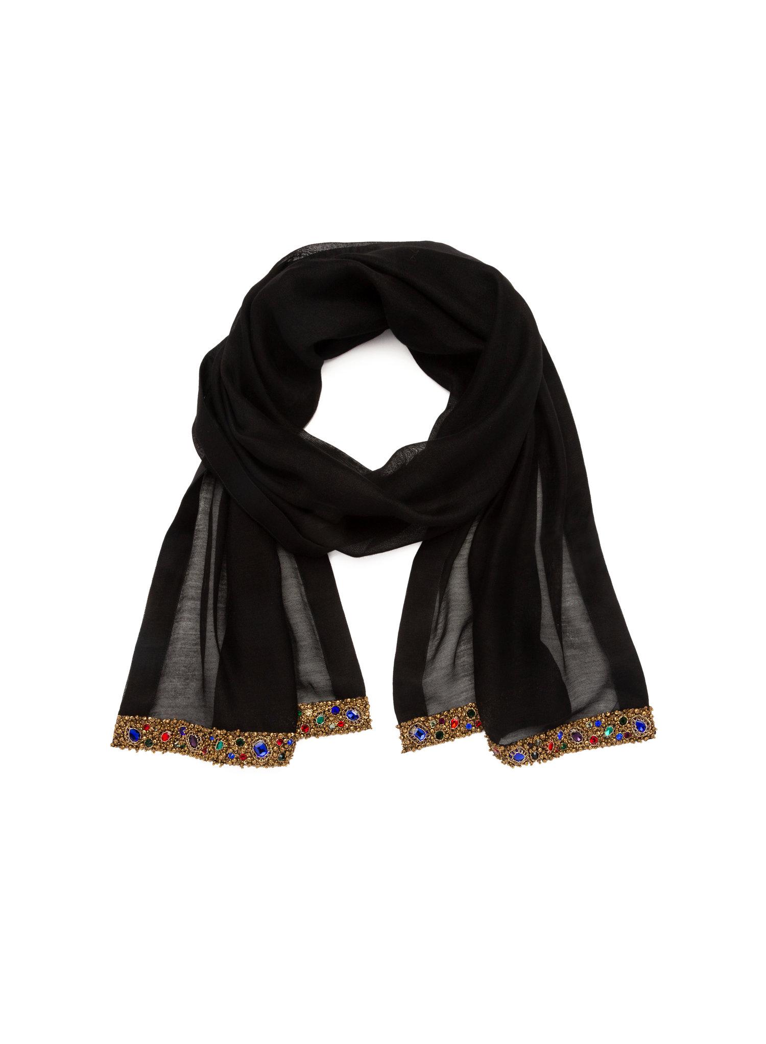 91b55685b91de Silk Oblong Multi Color Embellished — AZEEZA