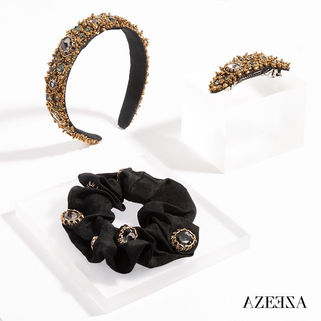 One of a kind, hand embellished hair accessories. Now 40% off at Azeeza. With exclusive code; HOLIDAY40