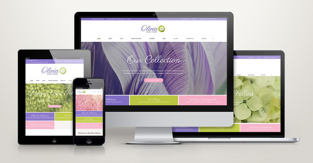 Click  here  to see a live preview of the Olivia website template.