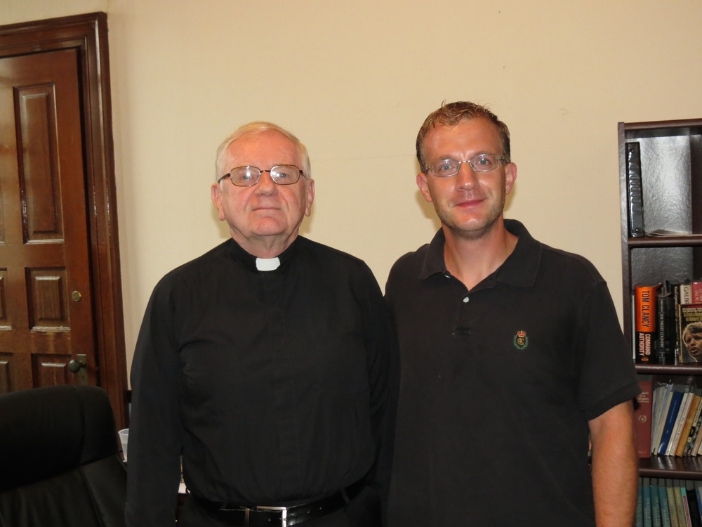 Fr. Jack Deegan, O.S.A., and Joseph Myers, editor of the South Philadelphia Review.